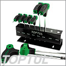 8 Pcs-L type two way hex key wrench set- Toptul